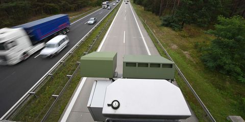 21 september 2021, brandenburg, wandlitzot lanke a license plate recognition device kesy is mounted underneath the red railing of a small bridge over the a 10 motorway near the lanke exit the automatic license plate recording, which has been practiced for several years, has been controversial, as time and again bystanders had been caught in the manhunts with the amendment of the code of criminal procedure on july 1 of this year, the mass recording of license plates is now only allowed in the case of a specific manhunt, but no longer a permanent surveillance photo soeren stachedpa zentralbildzb photo by soeren stachepicture alliance via getty images