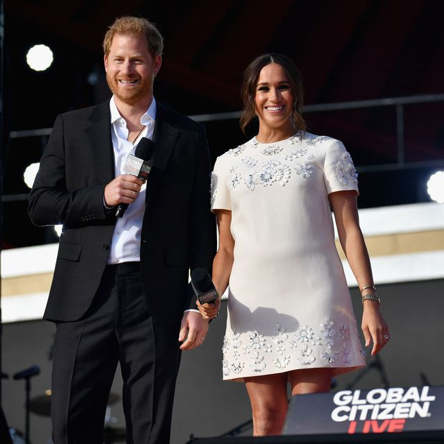 Meghan Markle Glowed in an Embellished White Mini Dress at Global Citizen Live