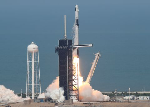 las mejores imágenes del despegue del cohete spacex