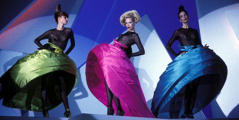 Fashion, Fashion design, Performance, Stage, Dress, Fun, Event, Design, Formal wear, Costume design,