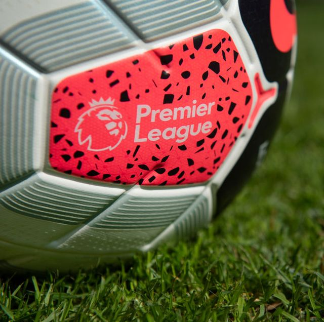 manchester, england   june 15 the official nike premier league match ball on june 15, 2020 in manchester, englandphoto by visionhaus