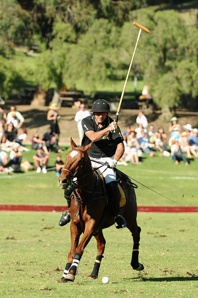 Ben Soleimani playing polo at the Veuve Clicquot Polo Classic Los Angeles.