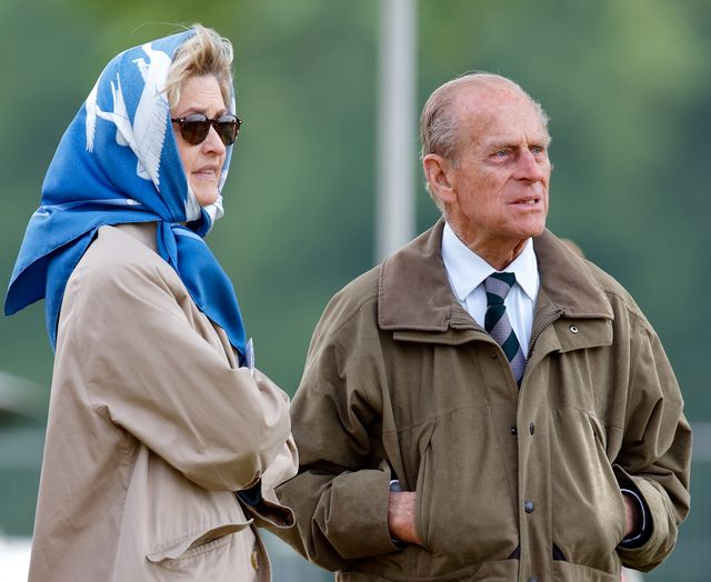 windsor, united kingdom   may 12 embargoed for publication in uk newspapers until 24 hours after create date and time penelope knatchbull, lady brabourne and prince philip, duke of edinburgh attend day 3 of the royal windsor horse show in home park on may 12, 2007 in windsor, england photo by max mumbyindigogetty images