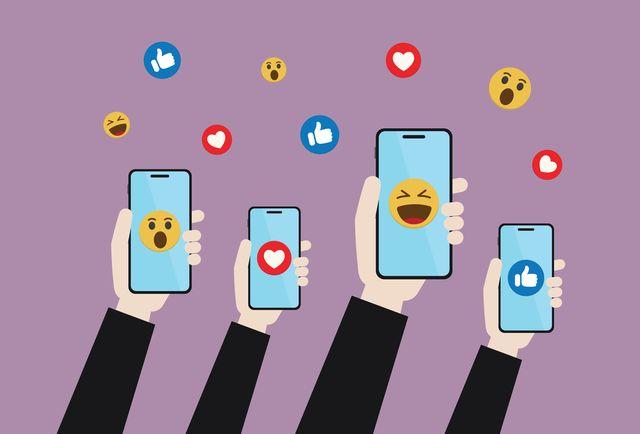 emoticon, social media, customer, online marketing