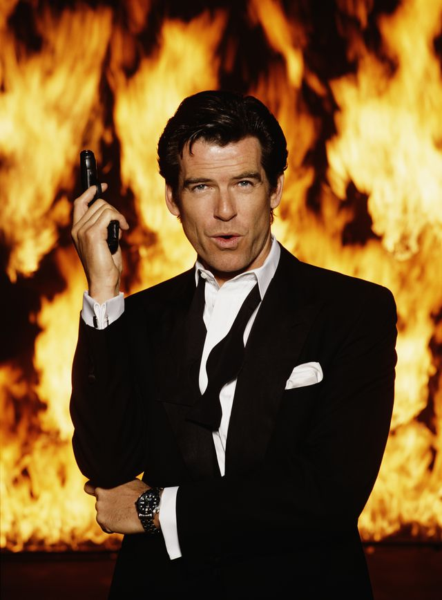 irish actor pierce brosnan stars as james bond in the film goldeneye, 1995 he is holding his iconic walther ppk photo by keith hamsheregetty images