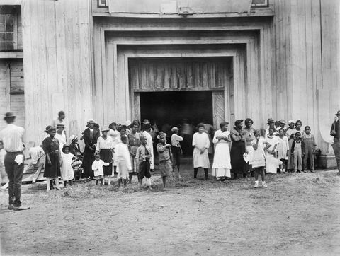 entrance to refugee camp on fair grounds after race riot, tulsa, oklahoma, usa, american national red cross photograph collection, june 1921 photo by ghiuniversal history archiveuniversal images group via getty images