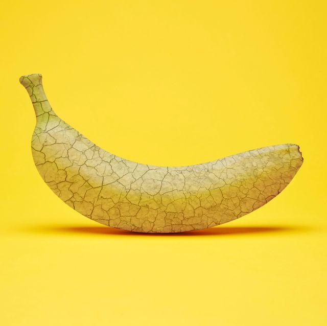 banana with dry, cracked peel