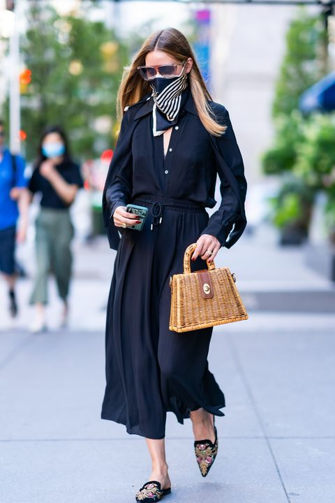 new york, new york   august 18 olivia palermo is seen in midtown on august 18, 2020 in new york city photo by gothamgc images