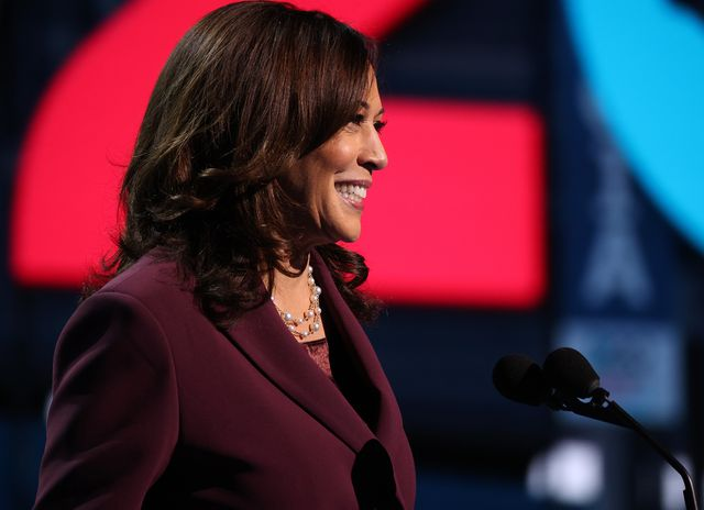 wilmington, delaware   august 19 democratic vice presidential nominee us sen kamala harris d ca speaks on the third night of the democratic national convention from the chase center august 19, 2020 in wilmington, delaware the convention, which was once expected to draw 50,000 people to milwaukee, wisconsin, is now taking place virtually due to the coronavirus pandemic harris is the first african american, first asian american, and third female vice presidential candidate on a major party ticket photo by win mcnameegetty images