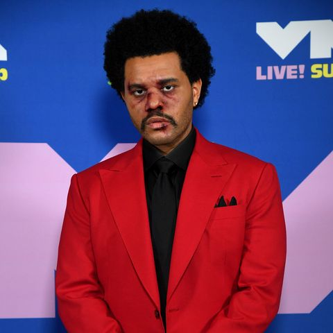 the weeknd face