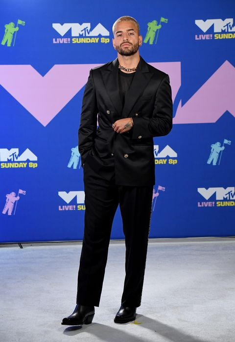 new york, new york   august 30 maluma attends the 2020 mtv video music awards, broadcast on sunday, august 30, 2020 in new york city photo by jeff kravitzmtv vmas 2020getty images for mtv