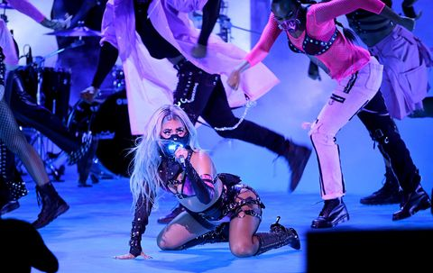new york, new york   august 30 editors note this image has been digitally altered lady gaga performs during the 2020 mtv video music awards, broadcast on sunday, august 30th 2020 photo by kevin wintermtv vmas 2020getty images for mtv