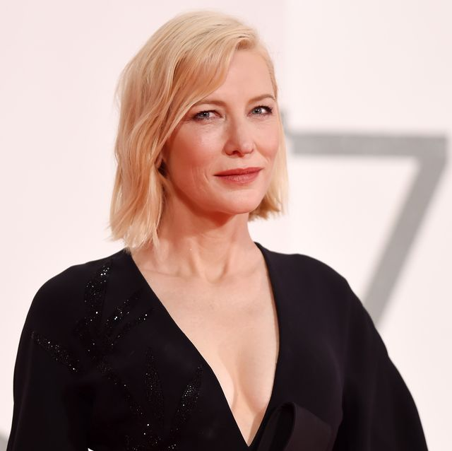 venice, italy   september 09 cate blanchett walks the red carpet ahead of the movie spy no tsuma wife of a spy at the 77th venice film festival on september 09, 2020 in venice, italy photo by stefania dalessandrowireimage
