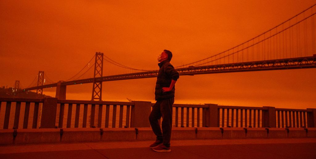 These Surreal Photos of the West Coast Wildfires Look Like the End of the World