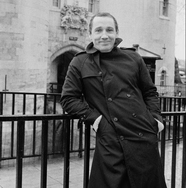 michael fagan, the intruder who gained access to the bedroom of queen elizabeth ii in buckingham palace in 1982, pictured at the entrance to the tower of london, uk, 9th february 1985 photo by r brigdenexpresshulton archivegetty images