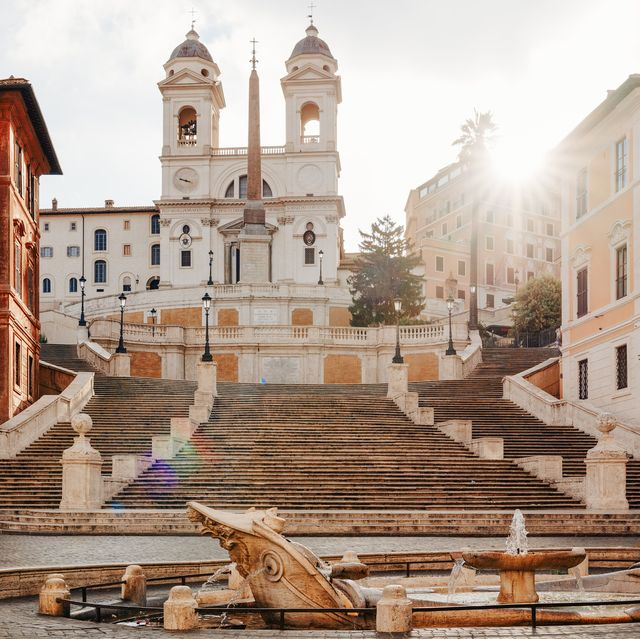 piazza di spagna, rome, italy no people at sunrise lazio