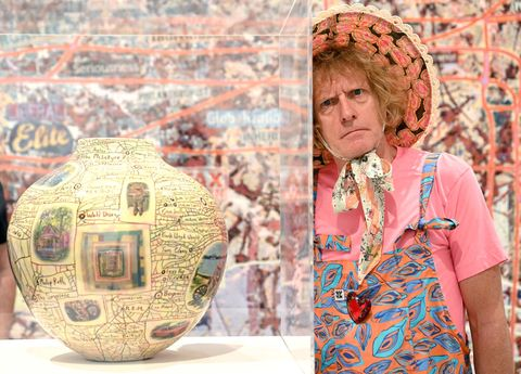 london, england   september 14 grayson perry attends the grayson perry the most specialest relationship photocall at victoria miro gallery on september 14, 2020 in london, england photo by karwai tanggetty images