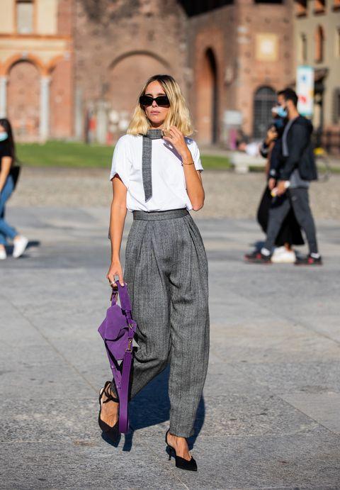 pantaloni vita alta moda autunno inverno 2020 2021