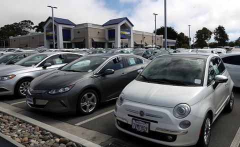 colma, california   september 24 used vehicles are parked on the sales lot at a carmax superstore on september 24, 2020 in colma, california carmax reported a better than expected 28 percent surge in second quarter earnings with revenues of $537 billion photo by justin sullivangetty images