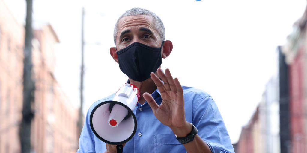 President Barack Obama Delivers an Impassioned Speech for Joe Biden