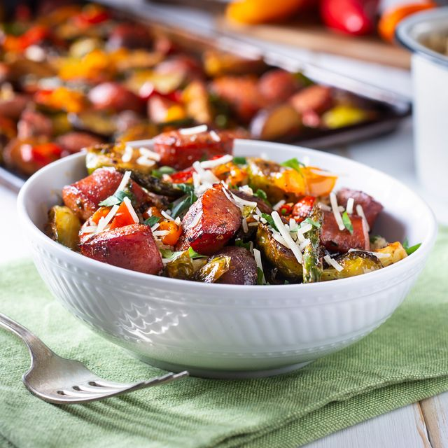 roasted vegetables served in a bowl