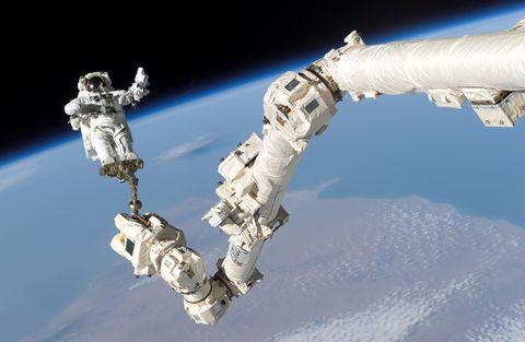 Space station, Astronaut, Space, Spacecraft, Satellite,