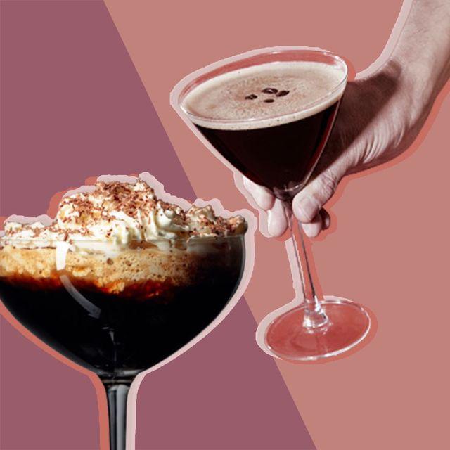 irish coffee and espresso martini cocktail recipes using coffee