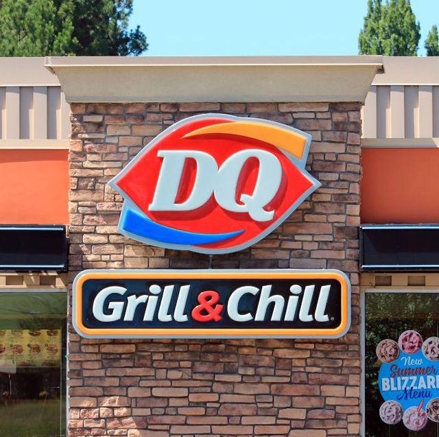 dairy queen logo on side of restaurant building photo by don  melinda crawfordeducation imagesuniversal images group via getty images