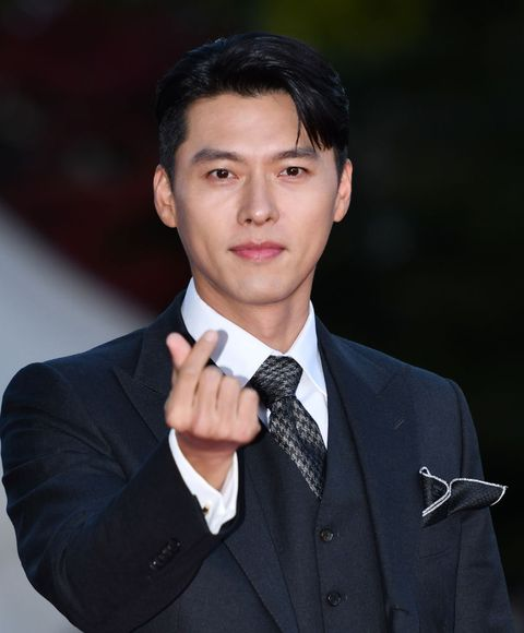 seoul, south korea   october 28 actor hyun bin during a red carpet event of 2020 korean popular culture and art awards at kyunghee university peace hall on october 28, 2020 in seoul, south korea photo by the chosunilbo jnsimazins via getty images