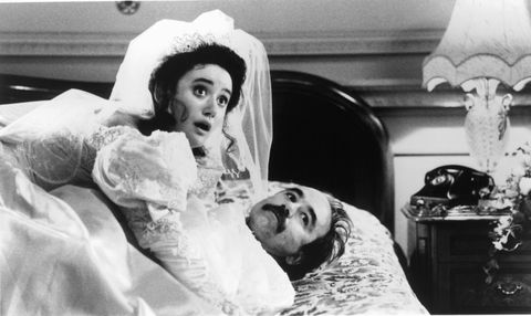 Charlotte Coleman, David Haig, Simon Callow, James Fleet, John Hannah And Hugh Grant In 'Four Weddings And A Funeral'