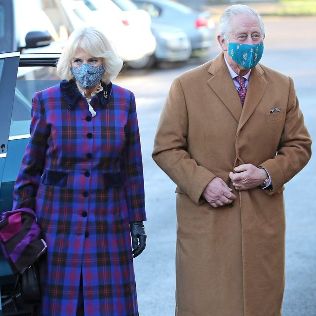 gloucester, england   december 17 camilla, duchess of cornwall and prince charles, prince of wales arrive at gloucestershire vaccination centre at gloucestershire royal hospital on december 17, 2020 in gloucester, england gloucestershire hospitals nhs foundation trust is one of the largest non specialist trust's in england, the trust is the designated management and coordination centre for the roll out of the covid 19 vaccination programme for gloucestershire their royal highnesses the prince of wales and the duchess of cornwall previously visited gloucestershire royal hospital in june of this year, the first engagement outside of a royal residence by any member of the royal family following the first national lockdown photo by chris jacksongetty images