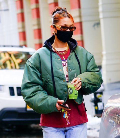 new york, new york   december 22 bella hadid out and about on december 22, 2020 in new york city photo by gothamgc images