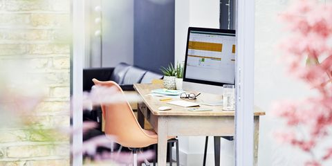desk in home office