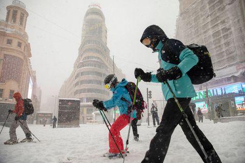 imagen de la gran nevada que colapsó madrid en 2021