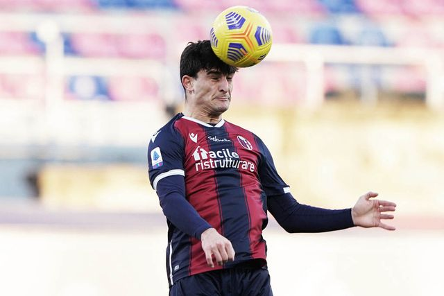 bologna, italy   january 16 riccardo orsolini of bologna fc during the serie a match between bologna fc and hellas verona fc at stadio renato dall'ara on january 16, 2021 in bologna, italy photo by danilo di giovannigetty images
