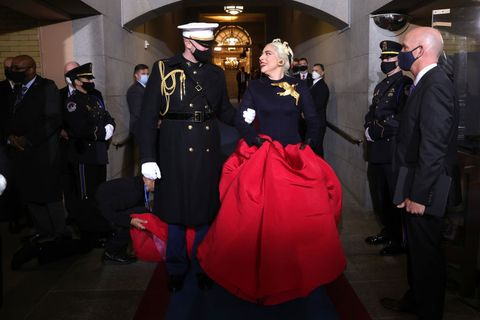 inauguration outfits hidden meanings lady gaga brooch