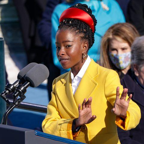 Amanda Gorman, Inauguration Poet, Is Wearing Jewelry From Oprah