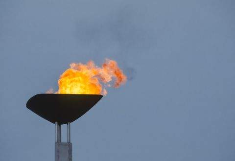 barcelona, spain   august 3  the olympic flame burns in the cauldron above the montjuic olympic stadium during the 1992 summer olympics on august 3, 1992 in barcelona, spain  photo by david madisongetty images
