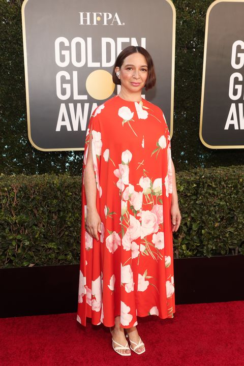 beverly hills, california 78th annual golden globe awards    pictured maya rudolph attends the 78th annual golden globe awards held at the beverly hilton and broadcast on february 28, 2021 in beverly hills, california    photo by todd williamsonnbcnbcu photo bank via getty images