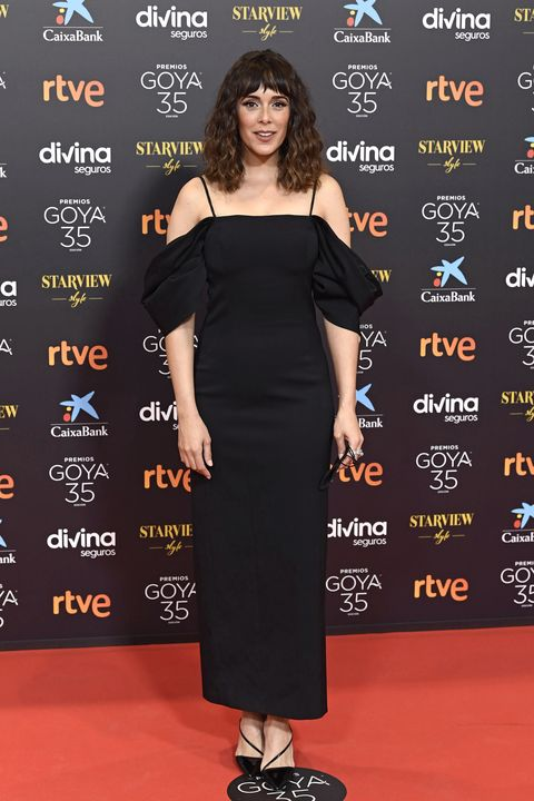 malaga, spain   march 06 belen cuesta attends goya cinema awards 2021 red carpet at gran hotel miramar on march 06, 2021 in malaga, spain photo by carlos alvarezgetty images