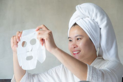 facial mask is a creamy or thick pasted mask applied to clean or smoothen the face