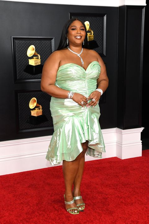 los angeles, california   march 14 lizzo attends the 63rd annual grammy awards at los angeles convention center on march 14, 2021 in los angeles, california photo by kevin mazurgetty images for the recording academy