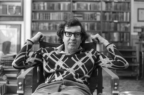 view of american author larry mcmurtry 1936   2021 as he sits in his bookstore, booked up, late 1970s photo by diana walkergetty images