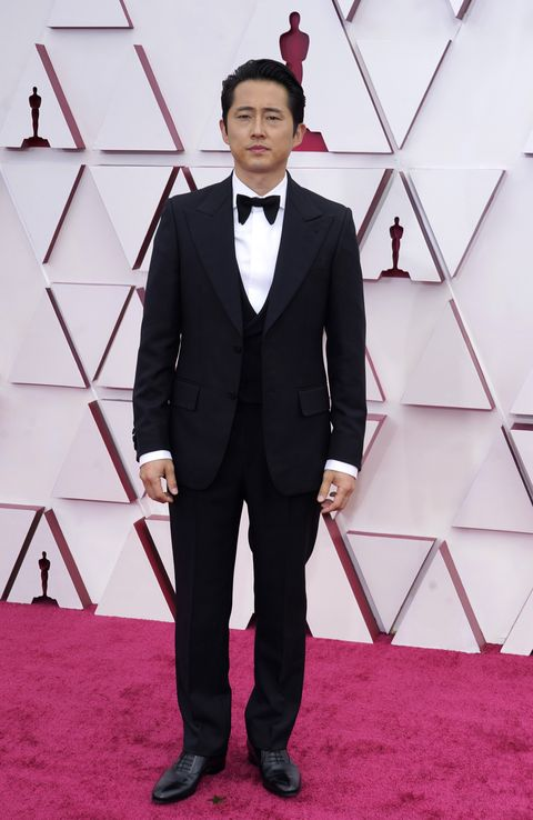 los angeles, california – april 25 steven yeun attends the 93rd annual academy awards at union station on april 25, 2021 in los angeles, california photo by chris pizzelo poolgetty images
