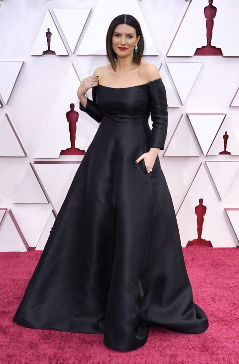 los angeles, california – april 25 laura pausini attends the 93rd annual academy awards at union station on april 25, 2021 in los angeles, california photo by chris pizzelo poolgetty images