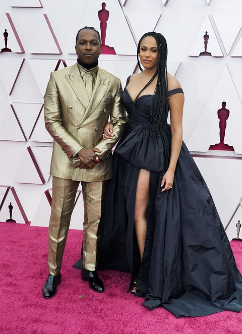 los angeles, california – april 25 l r leslie odom jr and nicolette robinson attend the 93rd annual academy awards at union station on april 25, 2021 in los angeles, california photo by chris pizzelo poolgetty images