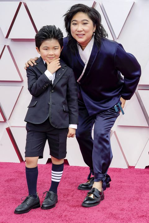 los angeles, california – april 25 l r alan s kim and vicky kim attend the 93rd annual academy awards at union station on april 25, 2021 in los angeles, california photo by chris pizzelo poolgetty images
