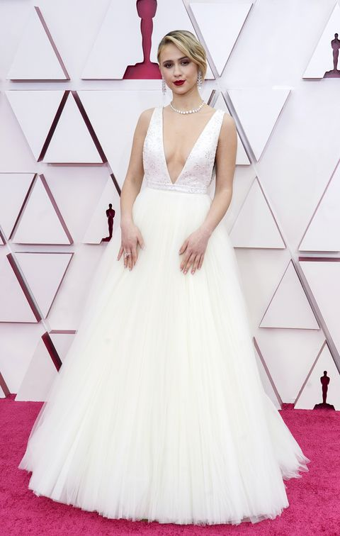 los angeles, california – april 25 maria bakalova attends the 93rd annual academy awards at union station on april 25, 2021 in los angeles, california photo by chris pizzelo poolgetty images