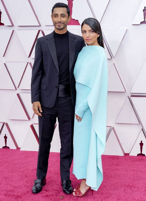 los angeles, california – april 25 l r riz ahmed and fatima farheen mirza attend the 93rd annual academy awards at union station on april 25, 2021 in los angeles, california photo by chris pizzelo poolgetty images