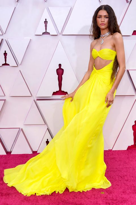 los angeles, california – april 25 zendaya attends the 93rd annual academy awards at union station on april 25, 2021 in los angeles, california photo by chris pizzello poolgetty images